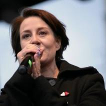 """Maja Ostaszewska ostro o proteście narodowców przed Teatrem Powszechnym: """"To terroryzm"""""""