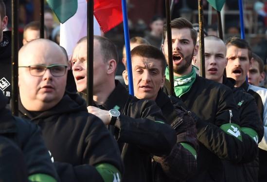Demonstracja ONR. Fot. Radek Pietruszka/PAP