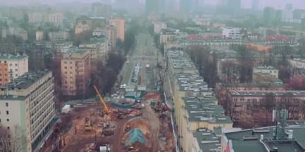 Niezwykły film. Budowa metra na Woli okiem drona