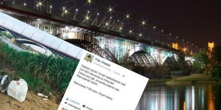 """""""Nadwiślański świt"""". Filip Chajzer znów pokazuje śmietnik nad rzeką"""