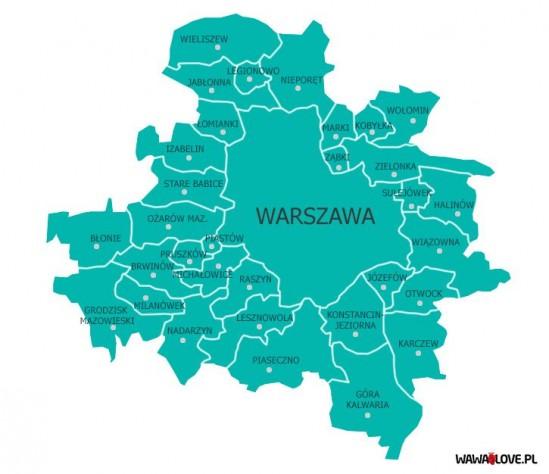 Kształt metropolii wg. PiS. Infografika: WawaLove.pl