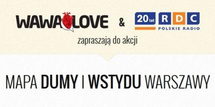 Mapa DUMY I WSTYDU Warszawy