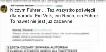 Porównał Kaczyńskiego do Führera. Jest wniosek o postępowanie