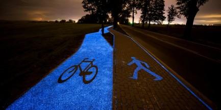 Pierwsza w Polsce świecąca ścieżka rowerowa. Kiedy zobaczymy taką w Warszawie?