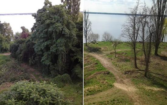 Zdjęcie przed i po działaniu inwestora. Fot. Monika Kamińska.