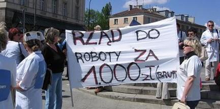 Pielęgniarki zaprotestują w centrum Warszawy