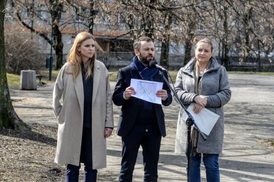 Od lewej Aleksandra Gajewska, warszawska radna oraz Michał Olszewski. Fot. Mat. prasowe