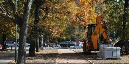 Przy pl. Na Rozdrożu powstaje naziemne przejście dla pieszych