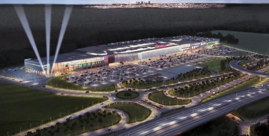 Wizualizacja centrum handlowego w Góraszce pod Warszawą. Fot. kadr z YT/C.H. Auchan at Youtube