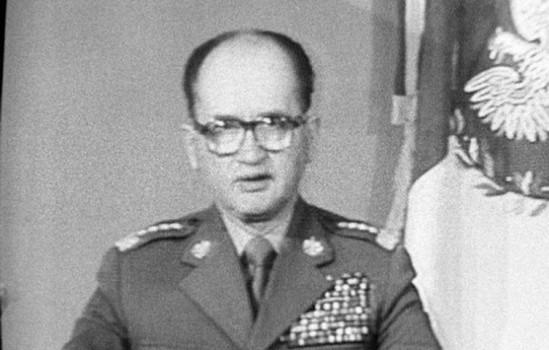 Gen. Wojciech Jaruzelski ogłasza wprowadzenie stanu wojennego Fot. PAP / Leszek Jerzy Pękalski