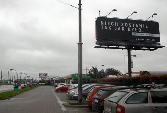 Billboardy pod lupą Hanny Gronkiewicz-WaltzFot. Przemek Wierzchowski / Agencja Gazeta