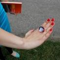 Szklany pierścionek autorstwa Marty Misiuro.