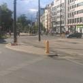 Miejsce potrącenia Klaudii i symboliczne gesty warszawiaków ustawiających w tym miejscu znicze. Fot. WawaLove.pl