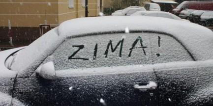 """Poranek ze śniegiem. """"Jest ślisko"""""""