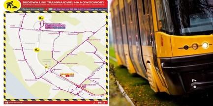 Budowa trasy tramwajowej na Nowodwory. Objazdy i utrudnienia